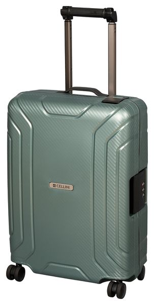 Cellini Safetech 740mm Multi-lock 4 Wheel Trolley with TSA Lock - Steel Green