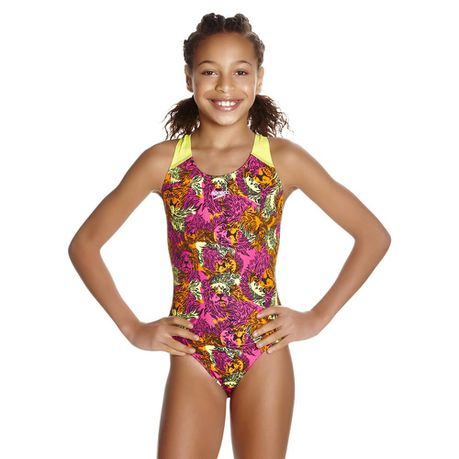 Speedo Girls Electric Ball Allover Splashback Swimsuit