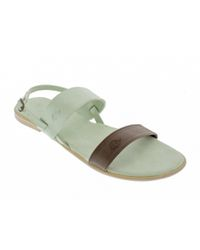 5b682b90ff3e4 Basic Journey Two Tone Sandals - Mint   Brown