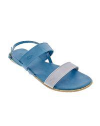 fb24e00591d8 Basic Journey Two Tone Sandals - Blue   Grey