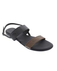 2fb377ca9b91 Basic Journey Two Tone Sandals - Black   Brown