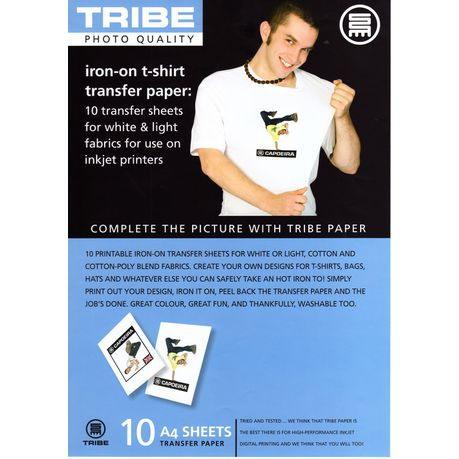 graphic about Printable Iron on Transfer known as TRIBE Iron-Upon Mild T-Blouse Shift Sheets (10 Sheets)
