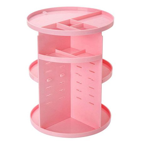 ... south africa takealot · 360 degree rotating makeup organizer pink ...