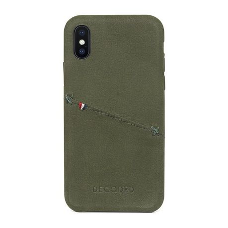 best service bc8d3 8ca5f Leather Back Cover for iPhone X - Green | Buy Online in South Africa ...