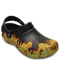 fe2397ff45382 Crocs Bistro Graphic Clogs - Black
