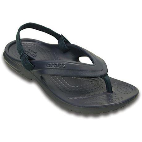 47eb86f44cf9 Crocs Kid s Classic Flip Flops - Navy
