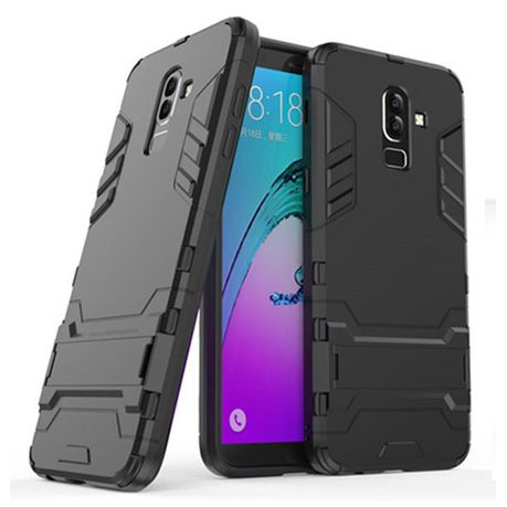 reputable site 297b4 f2693 2-in-1 Dual Shockproof Case for Samsung Galaxy J8 Black