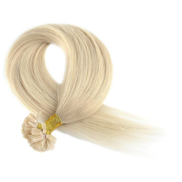 Remy Straight Human Hair Extensions Light Blonde Parallel Import