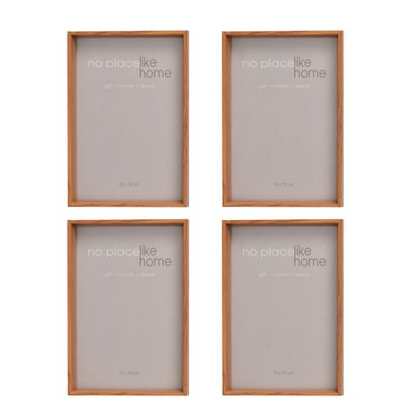 Wooden Photo-Box Picture-Frames - Set of 4 (10 x 15 cm) | Buy Online ...