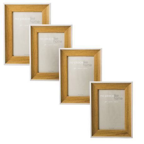 2 Tone Wooden Picture Frames - Set of 4 (10 x 15 cm) | Buy Online in ...