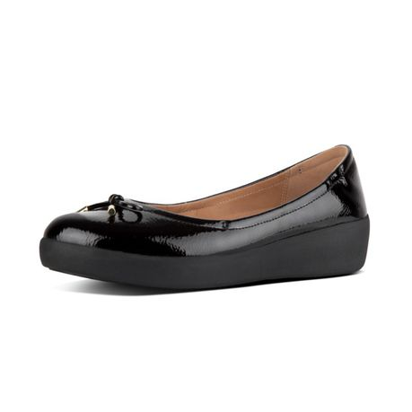 7871dc520f7dd1 FitFlop Superbendy Patent Ballerinas - Black