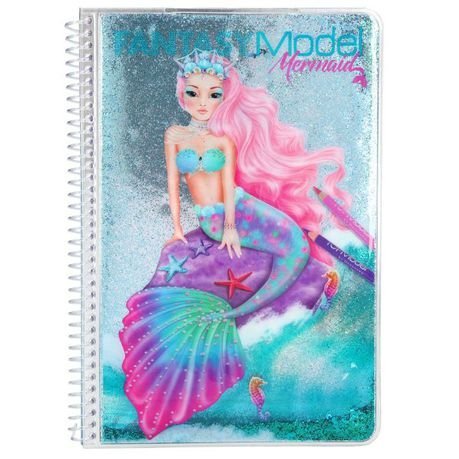 Top Model: Mermaid Colouring Book With Sticker | Buy Online in South ...