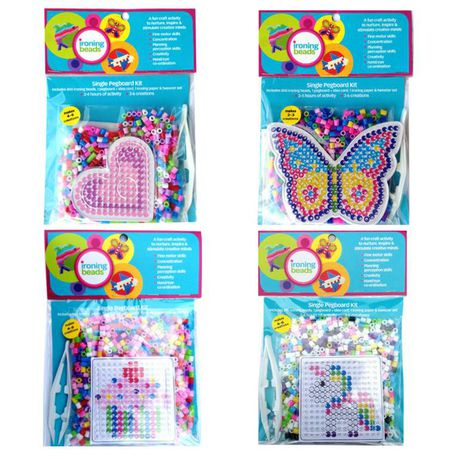 Melty Iron On Beads Craft Kit Singles Kit Pack X 4 Girl Pretty