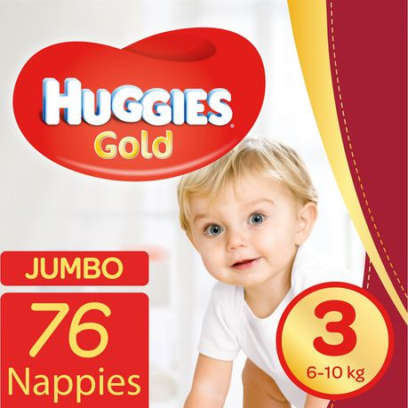 8a9c2369dd0 Huggies Gold - size 3 Jumbo Pack - 76's   Buy Online in South Africa    takealot.com