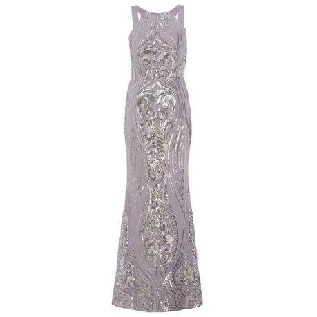 b5b4c5fd4ad Quiz Grey   Silver Fishtail Maxi Dress - Grey