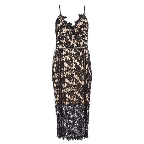 185aef9aa36d Quiz Olivias Black   Stone Crochet Strappy Midi Dress - Black