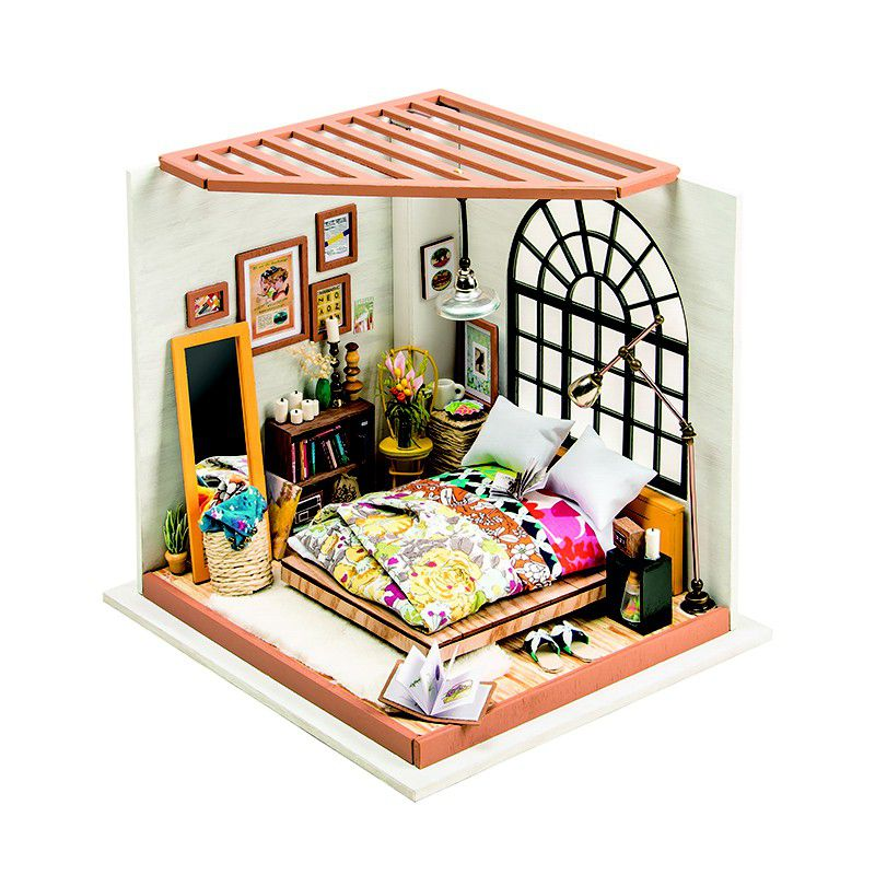 Robotime Alice Dreamy Bedroom D Wooden Puzzle Gift With Led - Bedroom furniture south africa online