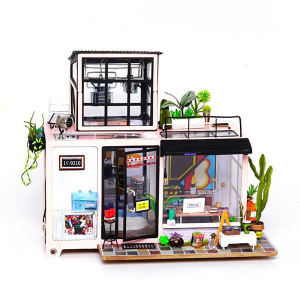 Robotime Kevin's Studio - 3D Wooden Puzzle Gift with LED
