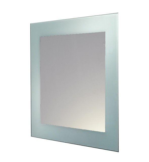 Adrianna Glass Framed Square Mirror