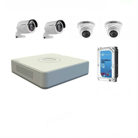 Hikvision 1080p 4 Channel Turbo HD Kit with 1TB HDD DIY CCTV Kit