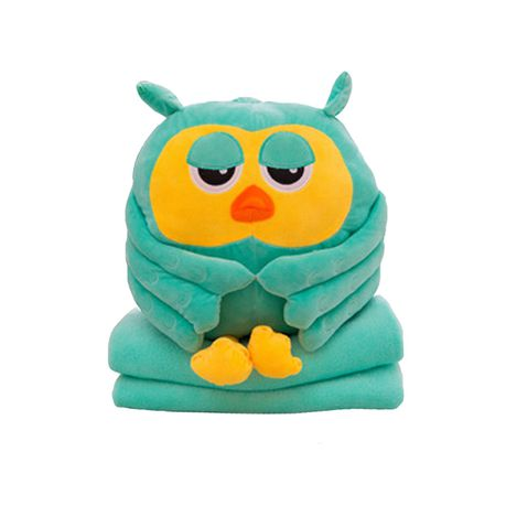Cute Owl Pillow And Soft Blanket Stuffed Animal Buy Online In