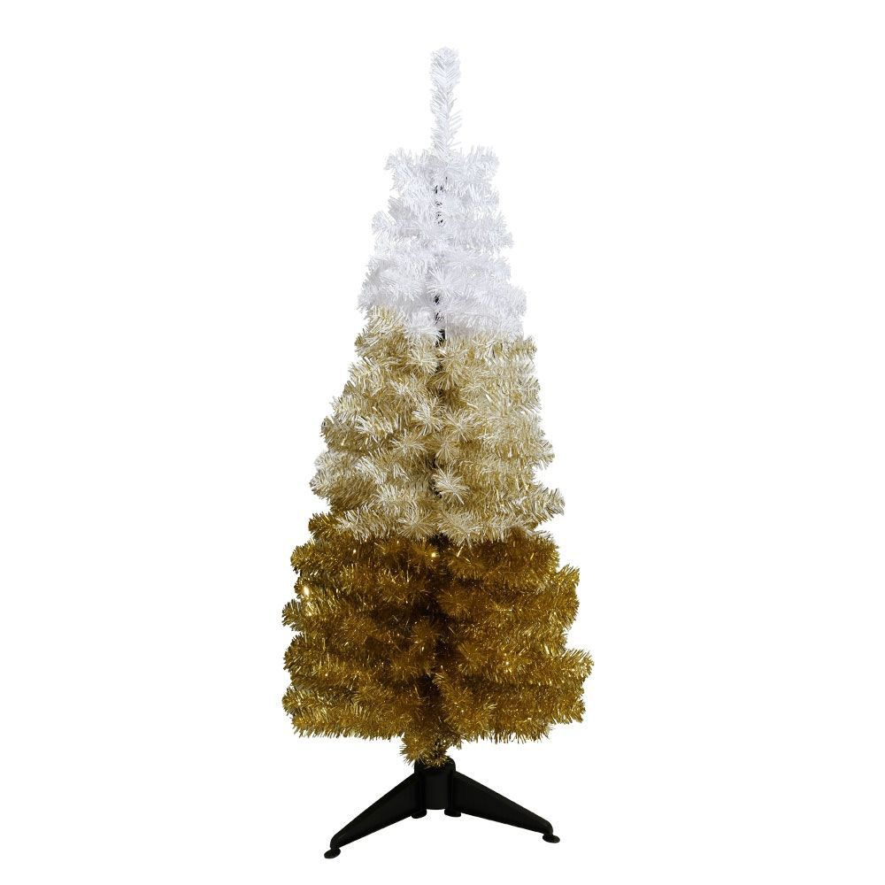 Gold Ombre 4Ft Artificial Christmas Tree ...