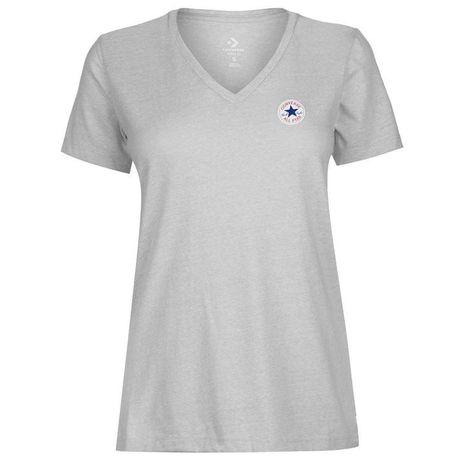 1964e7be22c7 Converse Women s V Neck T Shirt - Grey Heather (Parallel Import ...