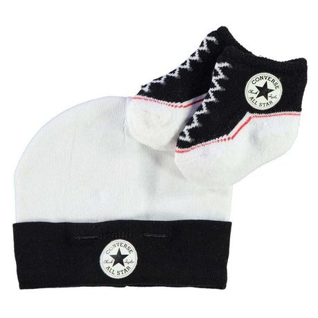 eec651aba6302a Converse Baby Hat   Bootie Gift Set - Black (Parallel Import)