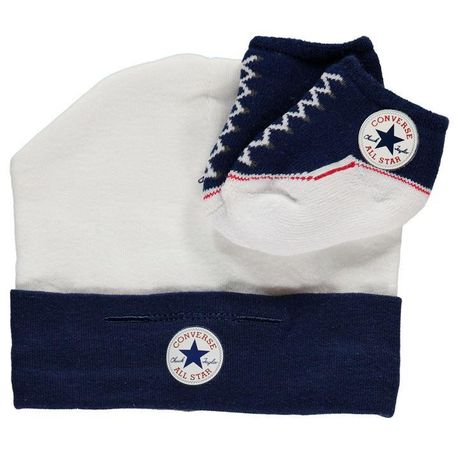 4d1568e385cdb1 Converse Baby Hat   Bootie Gift Set - Navy (Parallel Import)