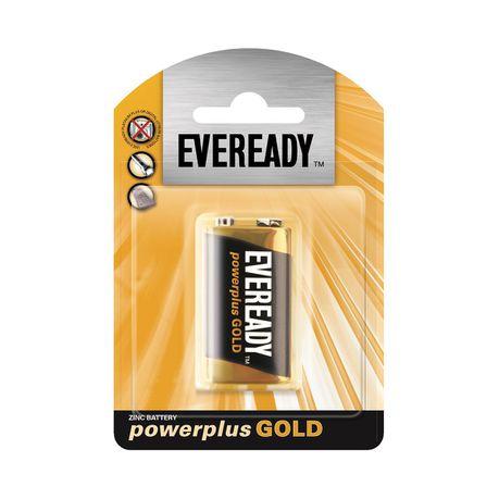 Eveready Power Plus Gold 9 Volt Battery - Black&Gold