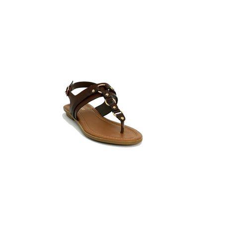 a76499ae1 Ladies Bata Back Strap Thong Sandal Shoes - Brown