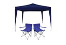 Afritrail 3 x 3m Gazebo Chair Combo - Blue
