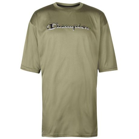 74e7c244a6f5 Champion Men s Side Panel T-Shirt - Green   Black (Parallel Import ...
