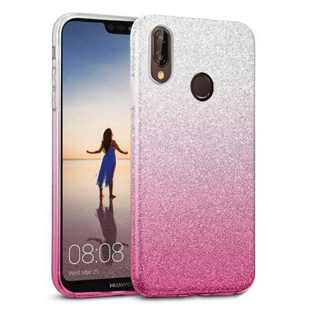 pretty nice 85353 9537e Tekron Glitter Sparkle Gradient Case for Huawei P20 Lite - Silver to Pink