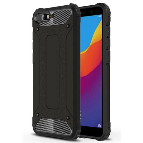 on sale abf55 e5d08 Shockproof Armor Case for Huawei Y6 2018 - Black
