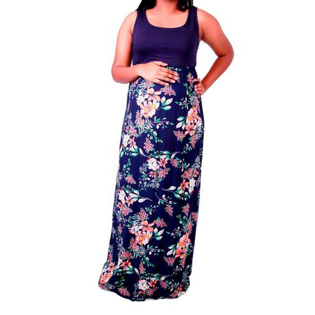 074e51ad9bff4 Maternity Maxi Dress Navy Floral | Buy Online in South Africa | takealot.com
