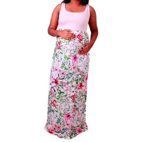 28789a89b8439 Maternity Maxi Dress Sorbet Floral | Buy Online in South Africa |  takealot.com