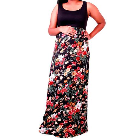 45772beddef77 Maternity Maxi Dress Black Red Floral | Buy Online in South Africa |  takealot.com