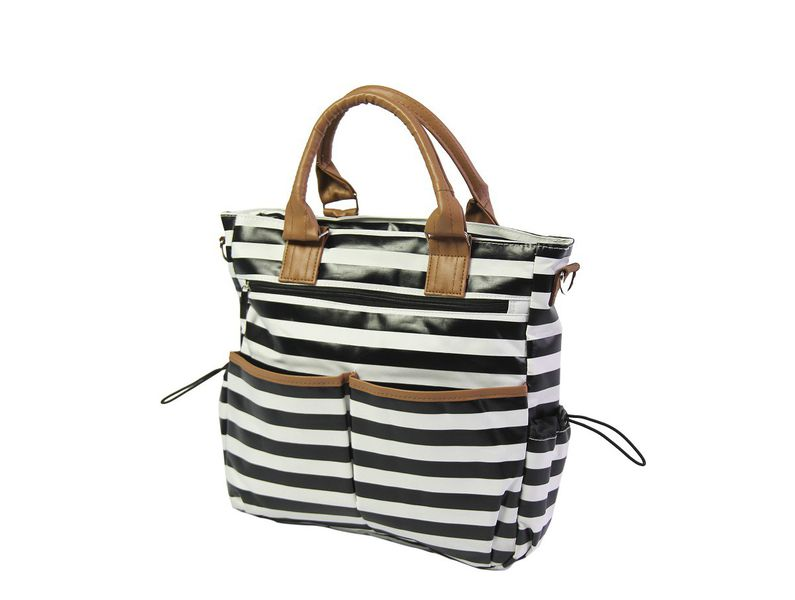 Nuovo - Diaper Bag - Stripe - Black/White