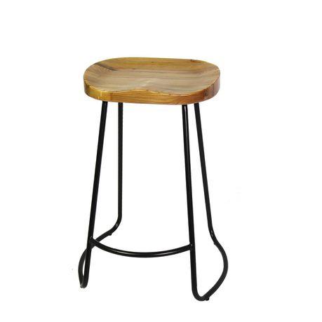 Phenomenal Fine Living Retro Barstool Wood Seat Metal Frame Forskolin Free Trial Chair Design Images Forskolin Free Trialorg