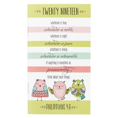 Christian Art Gifts: Philippians 4:8 - Daily Planner