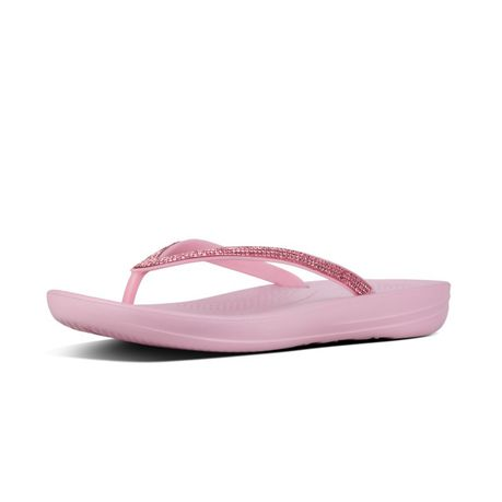 53e0192582ac9f FitFlop iQushion Sparkle Flip Flops - Pink Nectar