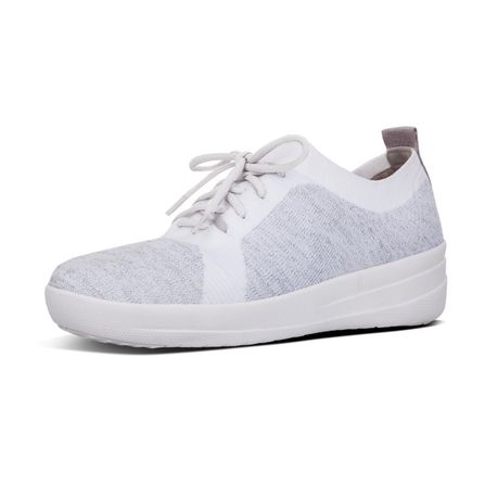 acf33fedc9345 FitFlop F-Sporty Uberknit Sneaker Metallic - Silver Urban White ...
