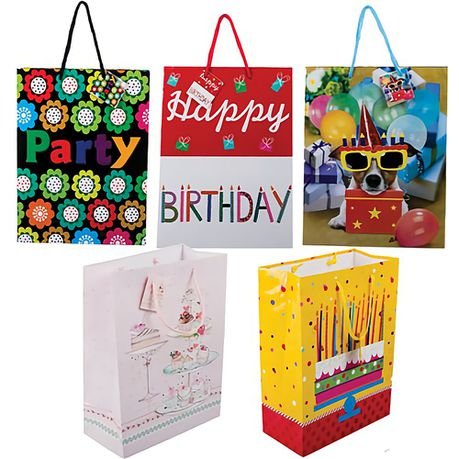 Bulk Pack X 10 Large Birthday Gift Bags