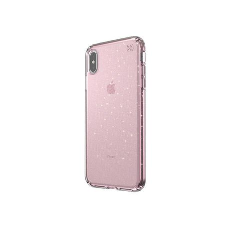 Speck Presidio Clear Glitter Case Apple iPhone XS Max , Pink/Gold Glitter