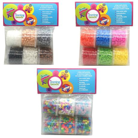 Ironing Beads Toy Craft Fun Colour Trio 6300 Beads Buy Online