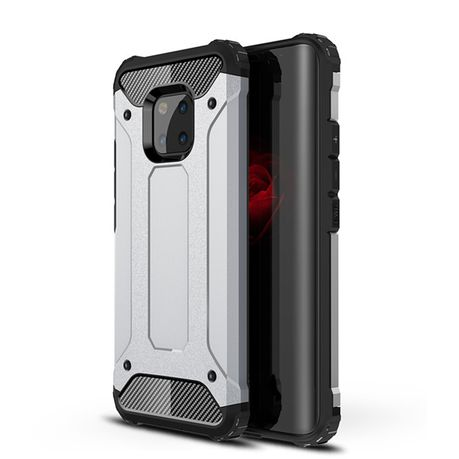 sale retailer f94f7 3c43a Shockproof Armor Case for Huawei Mate 20 Pro Silver