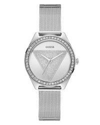 bd39af743052 Guess Women s TRI GLITZ Watch With Round Case - Silver