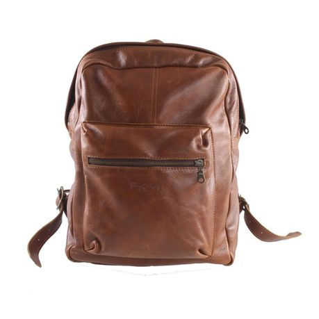d3bb483f1a Kingkong Leather 13 inch Backpack - Brown