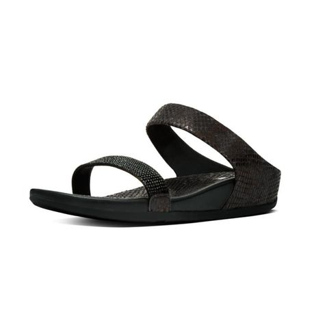 2864ee950fa FitFlop Banda Crystal Imi Snake Slide - Black
